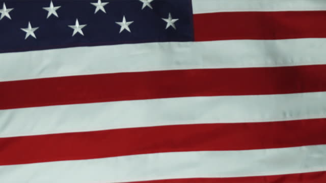 cu tu slo mo view of american flag / orem, utah, usa - orem utah stock videos & royalty-free footage