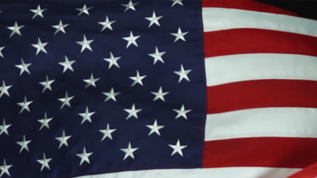 cu slo mo view of american flag / orem, utah, usa - orem utah stock videos & royalty-free footage
