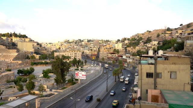 ヨルダンの首都アンマン市の眺め - 地理的地域 国点の映像素材/bロール