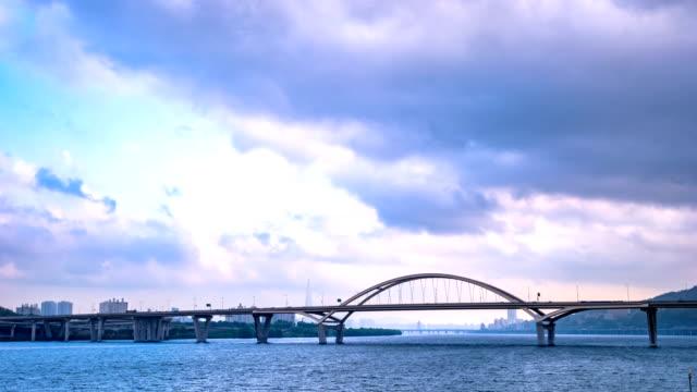 view of amsadaegyo bridge - korea点の映像素材/bロール