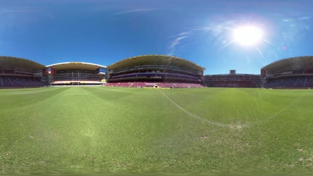 a view of an empty stadium in durban south africa - durban stock videos & royalty-free footage