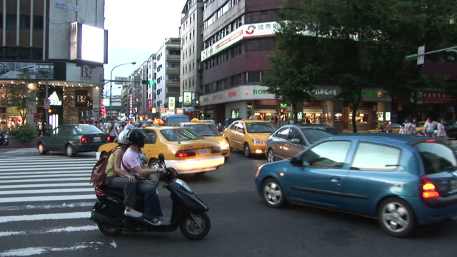 View of an intersection in Taipei Taiwan