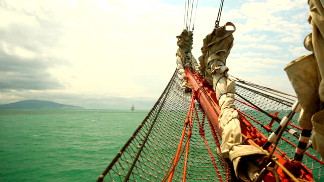 view of an old sailing ship