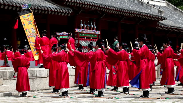View of Ancestral ritual formalities for jongmyo shrine (Intangible Cultural Heritage)