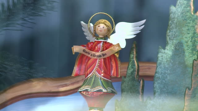 ms view of angels toy / rothenburg o.d. tauber, bavaria, germany - female likeness stock videos & royalty-free footage