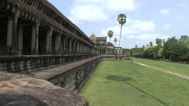 ws view of angkor wat complex / siem reap, cambodia  - cambodian culture stock videos and b-roll footage