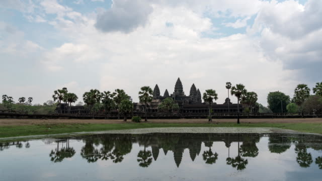 view of angkor wat - moat stock videos & royalty-free footage