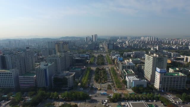 View of Ansan City Hall and cityscape in Ansan, Gyeonggi-do