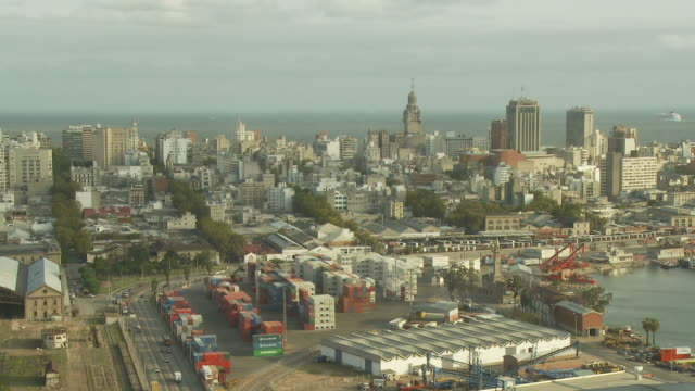 stockvideo's en b-roll-footage met view of antel tower, uruguay - uruguay