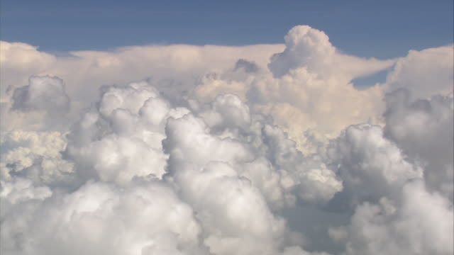 WS AERIAL View of Anvil clouds / Texas, United States