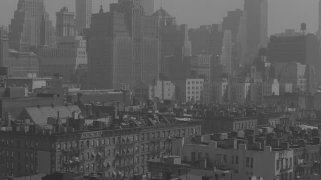 ws tu td view of apartment buildings next to fire escape at new york city - fire escape stock videos & royalty-free footage