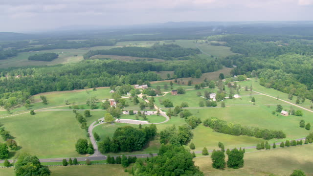 WS AERIAL DS View of Appomattox Court House National Historical Park / Virginia, United States