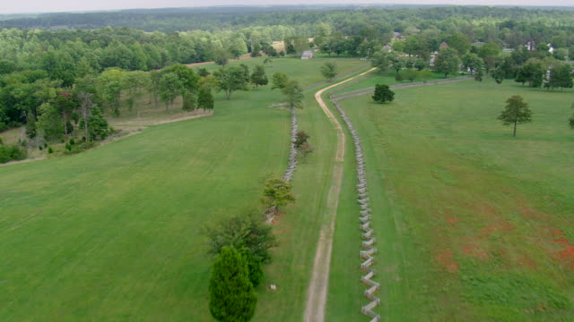 WS AERIAL ZI ZO View of Appomattox Court House National Historical Park / Virginia, United States