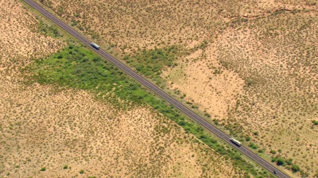 ws aerial view of arizona plains / arizona, united states - southwest usa stock videos and b-roll footage