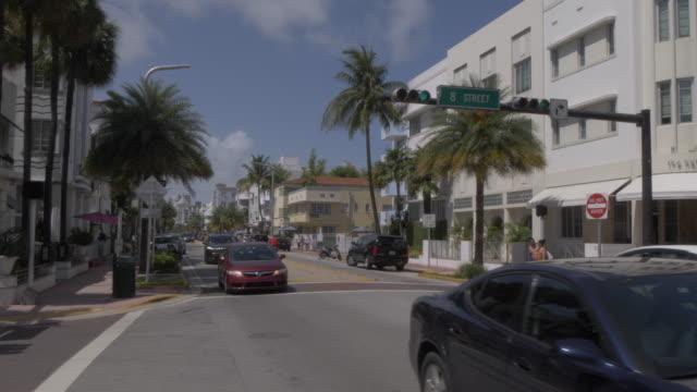 View of Art Deco architecture on Collins Avenue, South Beach, Miami, Florida, United States of America, North America