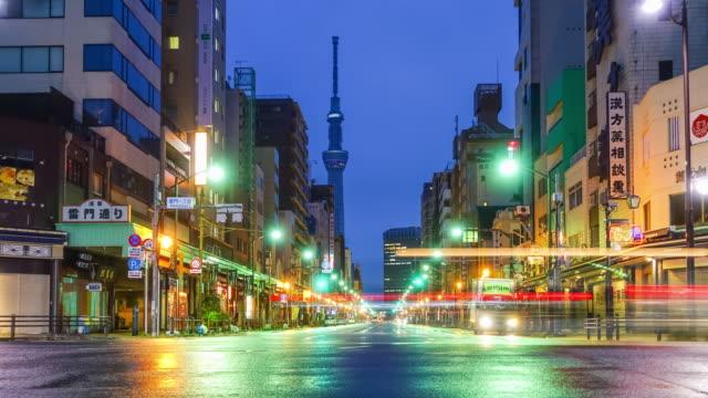 View of Asakusa district in Tokyo, Japan