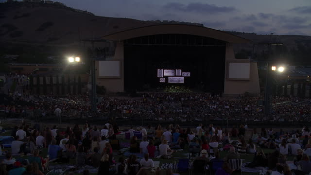 ws view of audience in cricket wireless amphitheater / chula vista, california, usa - establishing shot stock videos & royalty-free footage