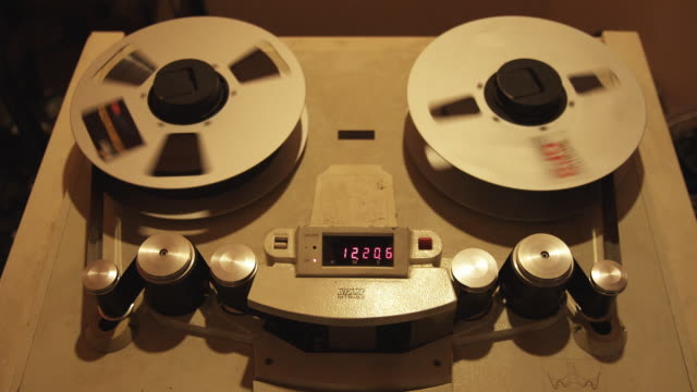 CU View of audio reel recorder / New Zealand