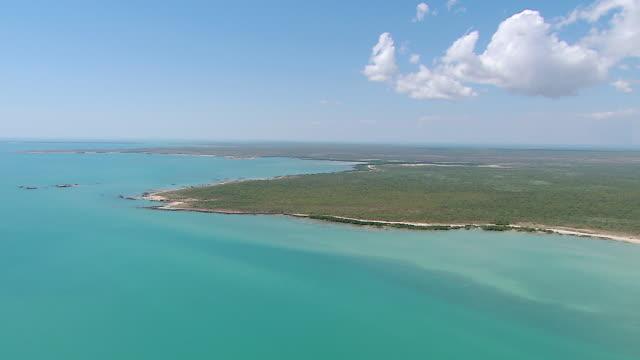 AERIAL WS View of Australian Coastline / Truscott, Western Australia, Australia
