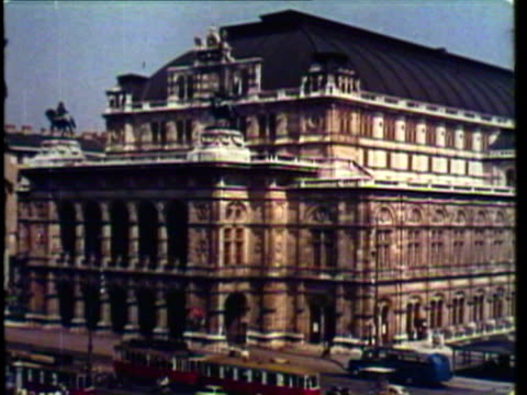 1953 ws view of austrian architecture in vienna / vienna, austria / audio - vienna austria stock videos & royalty-free footage