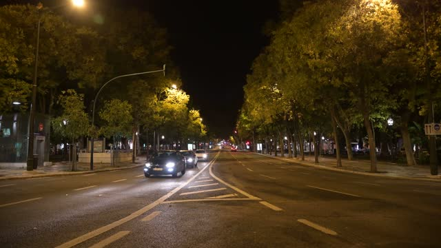 view of avenida da liberdade as portugal begins a new state of emergency period that will last for two weeks and includes a curfew between 11 pm and... - liberdade stock videos & royalty-free footage