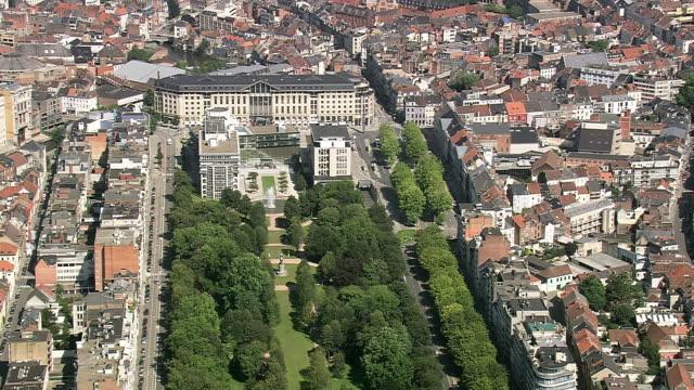 WA AERIAL ZI PAN View of Avenue to City / Flanders, Belgium
