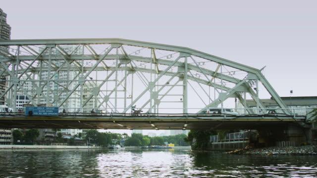 View of Ayala Bridge Traffic from Boat, Manila