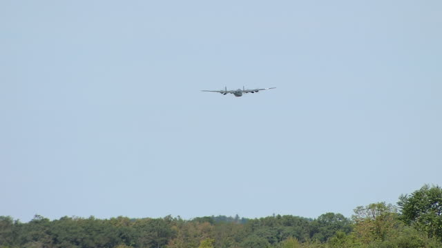 ws view of b-24 bomber takeoff / boston, massachusettes, united states - bomber plane stock videos and b-roll footage