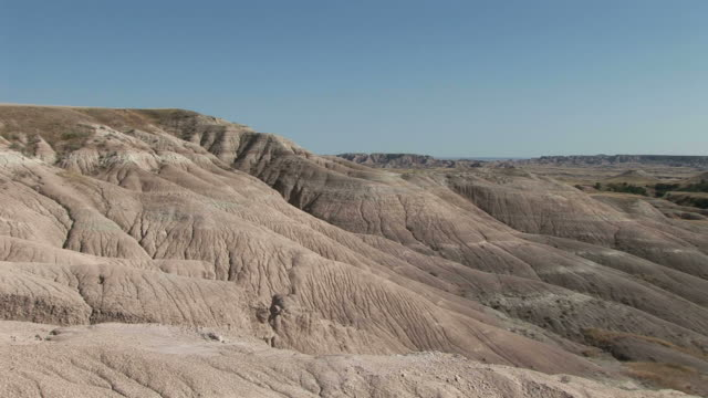view of badlands national park in south dakota united states - badlands national park stock videos & royalty-free footage