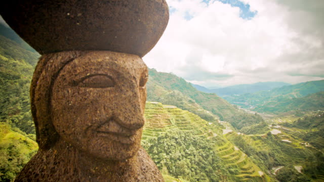 ws t/l view of banaue rice terrace / banaue, ifugao, philippines  - rice terrace stock videos and b-roll footage