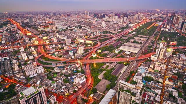 vídeos de stock e filmes b-roll de view of bangkok city - ponte das correntes ponte suspensa
