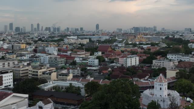 View of Bangkok's old city zone.