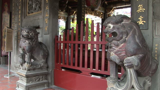 view of bao-an temple in taipei taiwan - imperial lion stock videos and b-roll footage