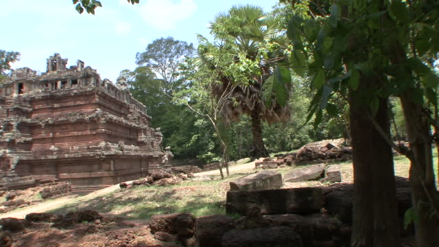 ws pan view of baphuon temple / siem reap, cambodia - cambodian culture stock videos and b-roll footage