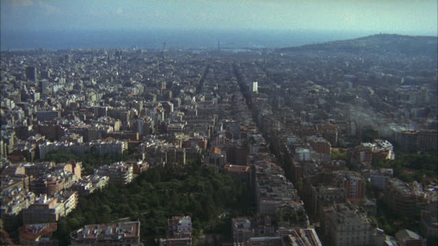 1967 AERIAL View of Barcelona / Spain