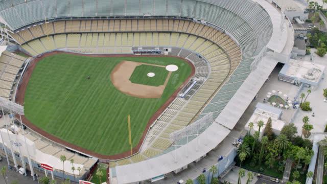 ws aerial view of baseball diamond - baseball diamond stock videos & royalty-free footage