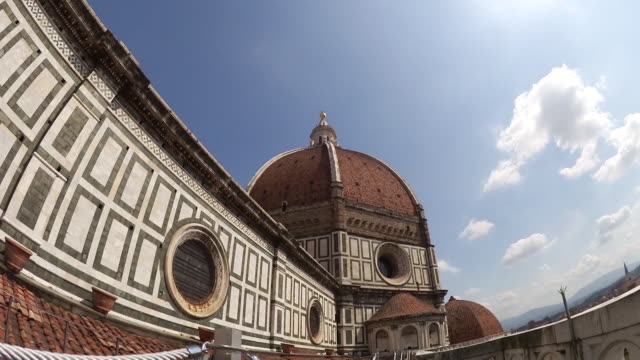 view of basilica di santa maria del fiore or known as duomo - fiore stock videos & royalty-free footage