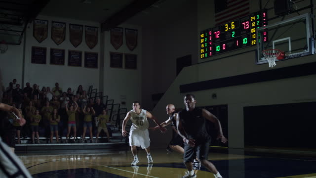 ms view of basketball match  / riverside, california, united states - basketball stock videos and b-roll footage