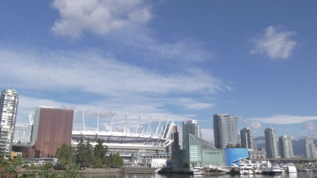 View of BC Place Stadium and city skyline, Vancouver, British Columbia, Canada, North America
