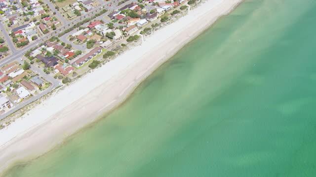 WS AERIAL View of beach / Adelaide, Australia