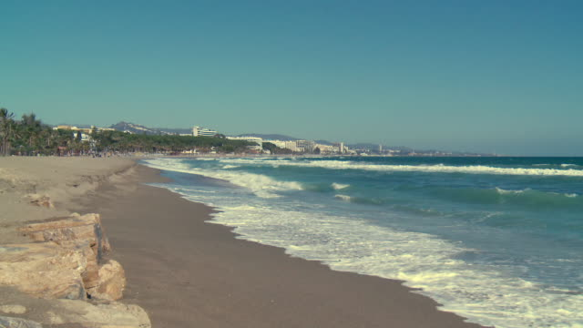 WS View of beach and city / Marbella, Andalusia, Spain