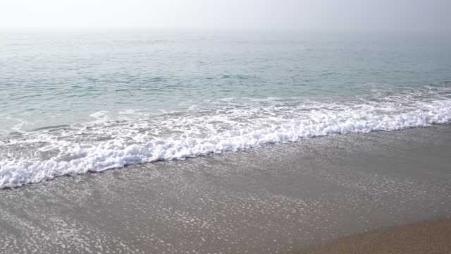 blick auf strand und wolken - vignettierung stock-videos und b-roll-filmmaterial