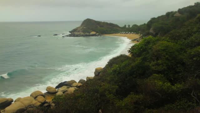 WS View of beach at tyrona national park / Tyrona N. Park, Magdalena, Colombia
