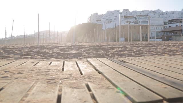 View of Beach Scene, Albufeira, Algarve, Portugal, Europe