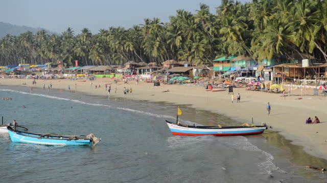 WS View of Beach scene / Palolem, Goa, India