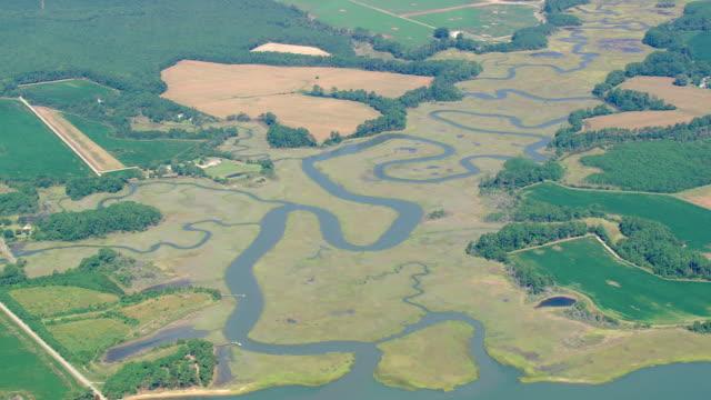 ws zi aerial view of beach / virginia, united states - virginia beach stock videos & royalty-free footage