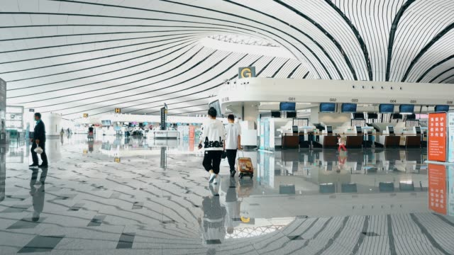 vídeos y material grabado en eventos de stock de view of beijing daxing international airport,china. - hacia delante