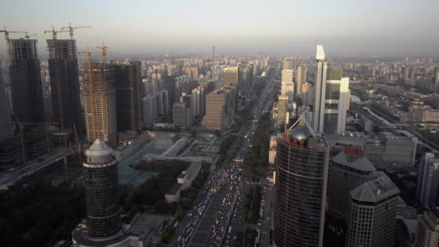 a view of beijing international trade center cbd - beijing stock videos & royalty-free footage
