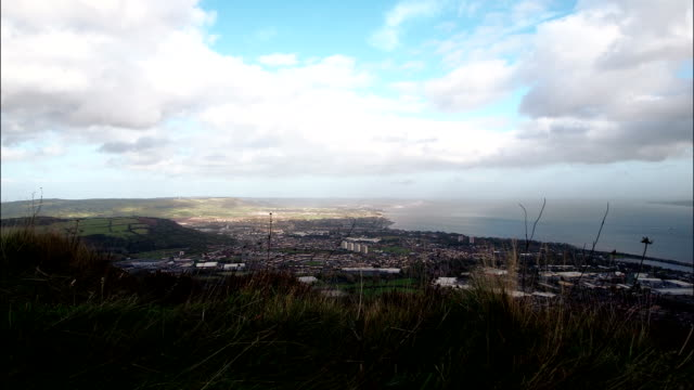view of belfast lough by timelapse - northern ireland stock videos & royalty-free footage