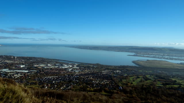 view of belfast lough by timelapse - belfast stock videos & royalty-free footage